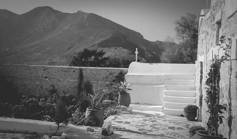 Greece Anafi, island seen from Santorini everyday