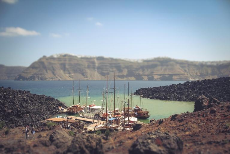 View from Santorini Volcano.