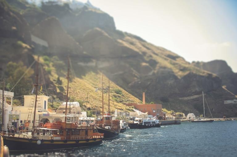 Santorini Fira Old Port