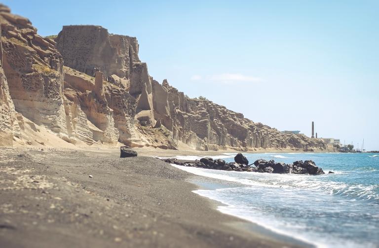 Santorini vlihada beach