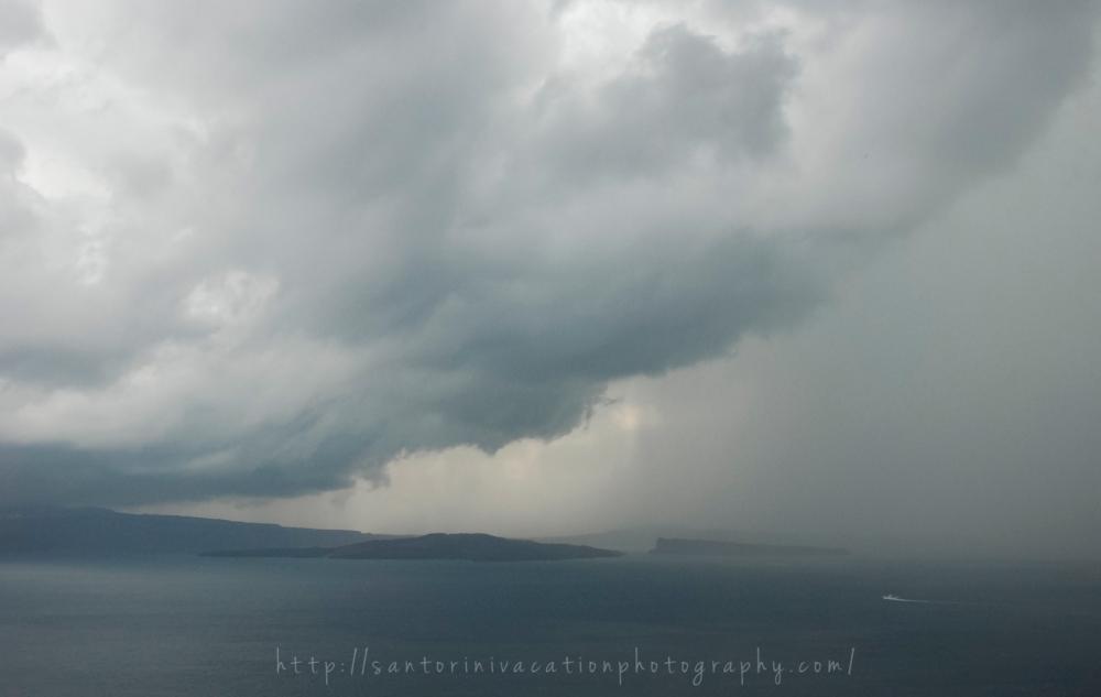 Storm in Santorini Oia