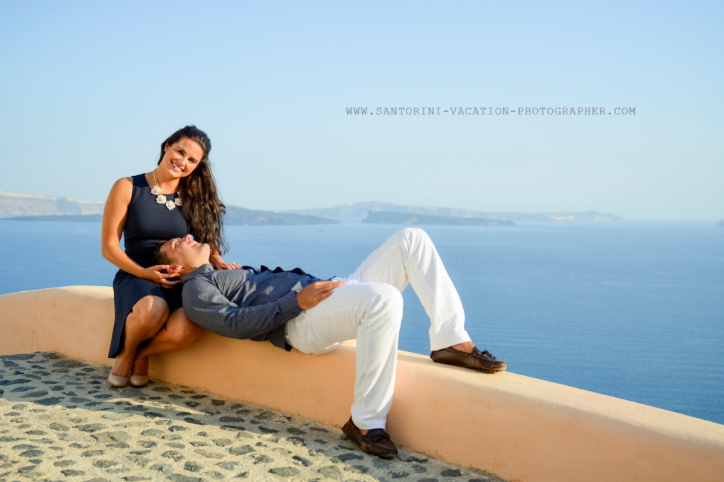 Photo shoot in Oia