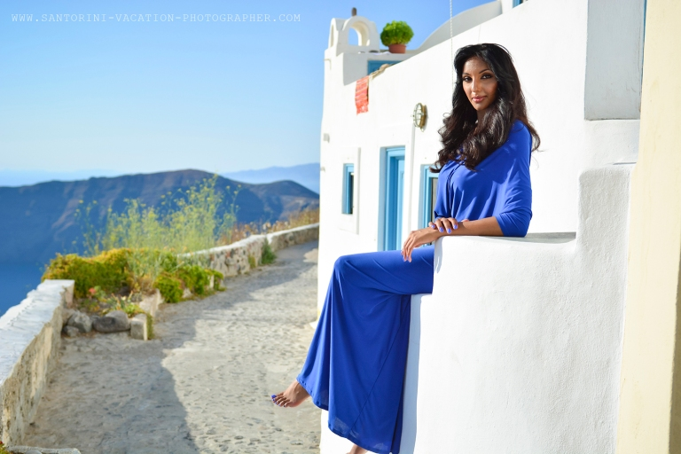 Santorini photo shoot. Imerovigli.