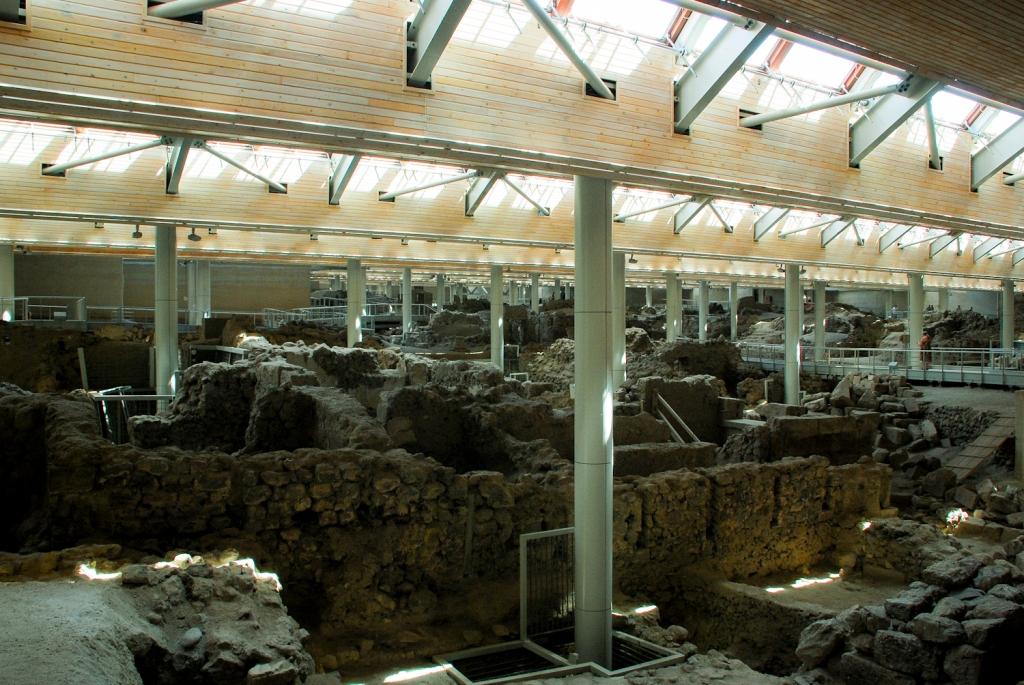 Santorini museum in Akrotiri
