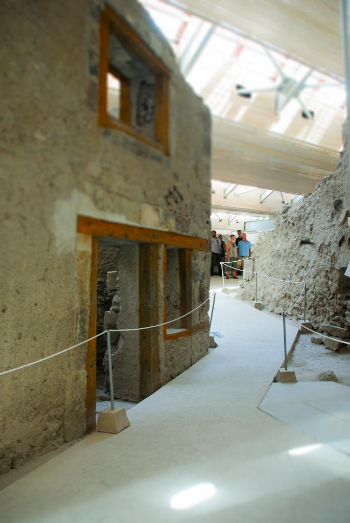 Akrotiri museum. Minoan civilization.
