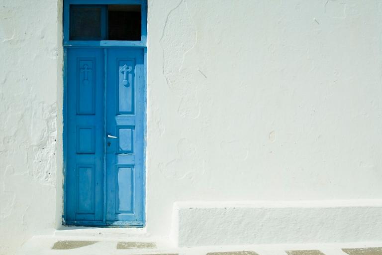 Santorini blue doord