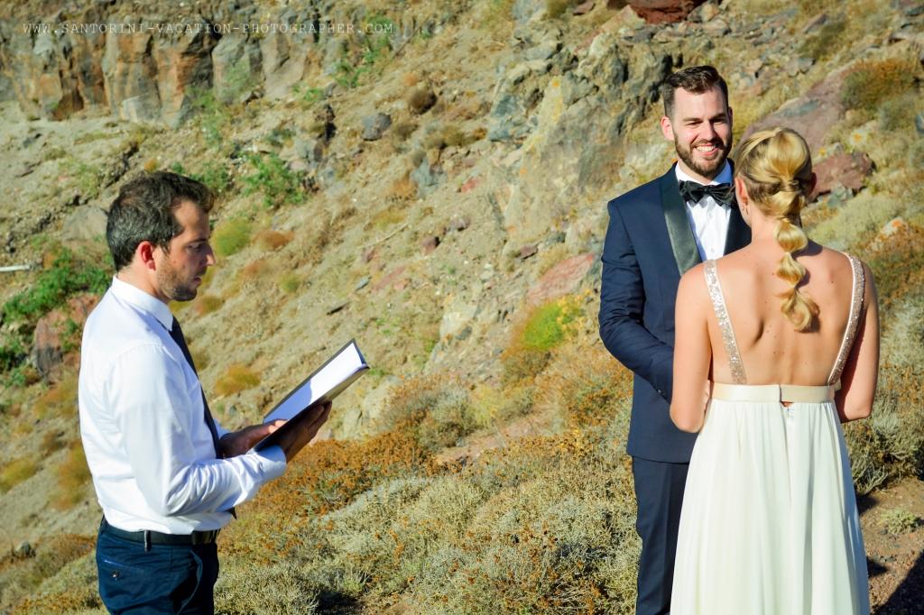 Santorini wedding at Imerovigli