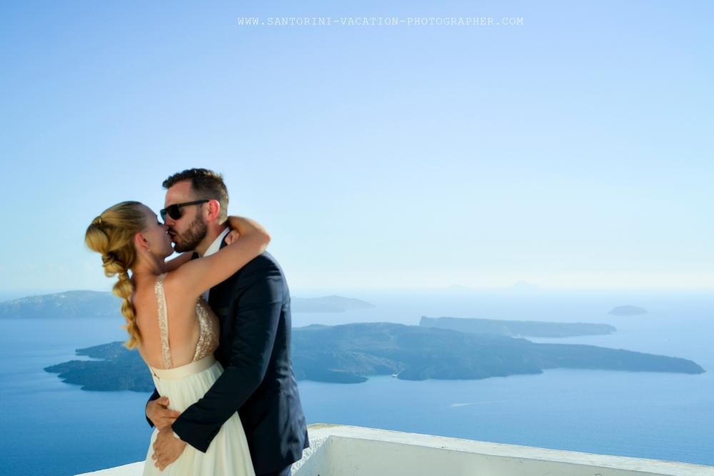 Amazing first look in Santorini