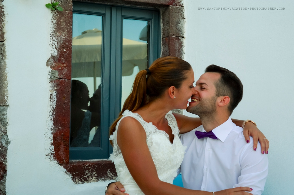 Photo shoot in Santorini.