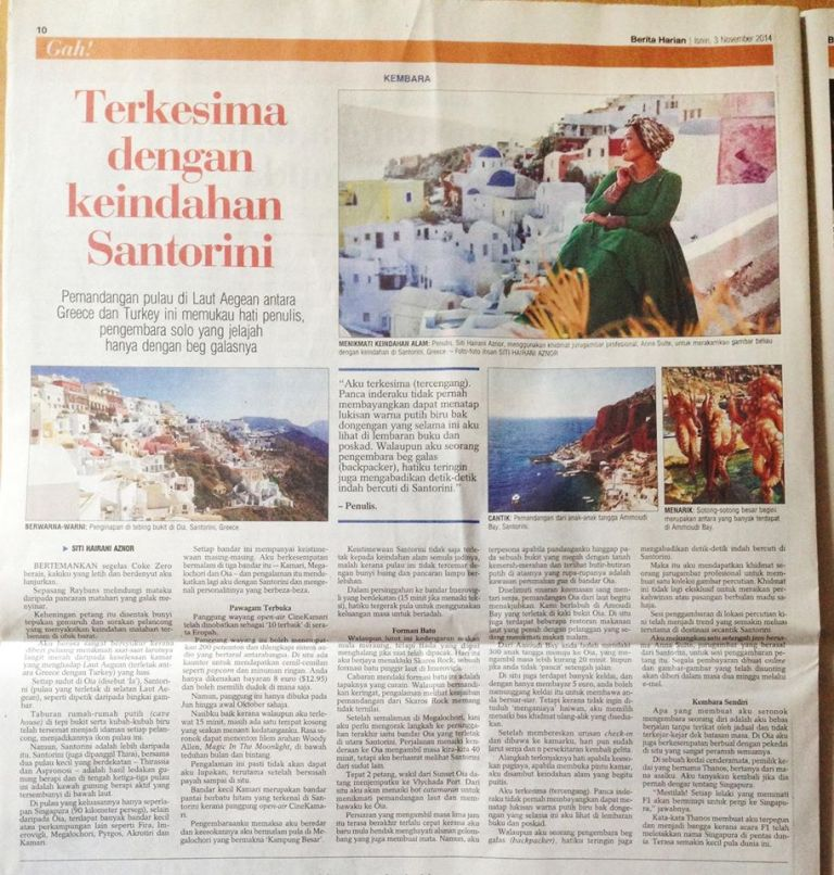 Santorini-article-in-singaporean-newspaper