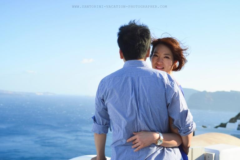 Couple portraits in Santorini. In love from Korea.