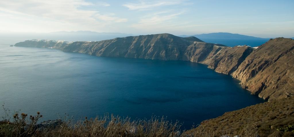 The road to oia. Santorini