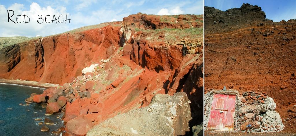 Hike to red beach. Santorini
