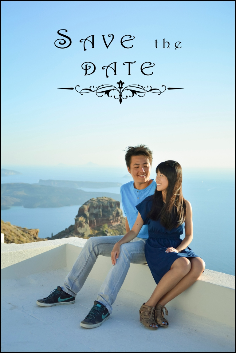 Save the Date Santorini