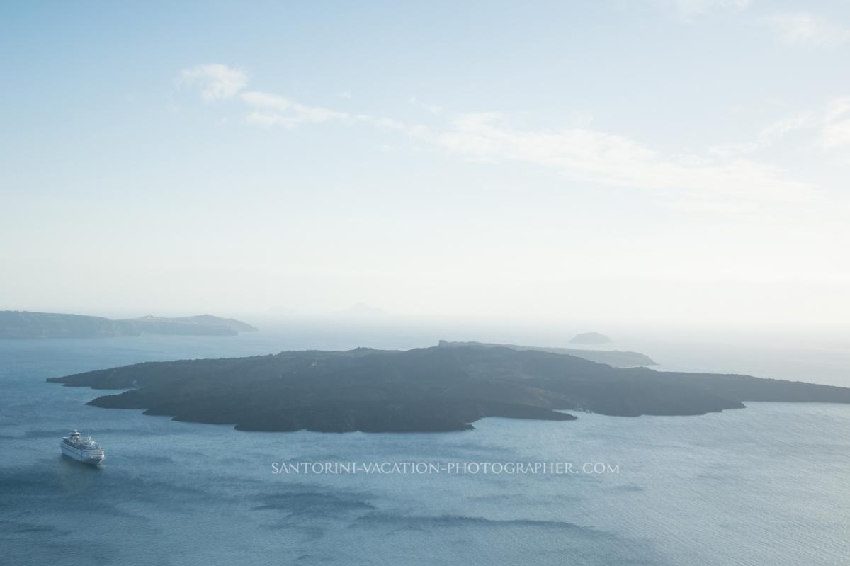 Volcano view in Santorini. Photo session.