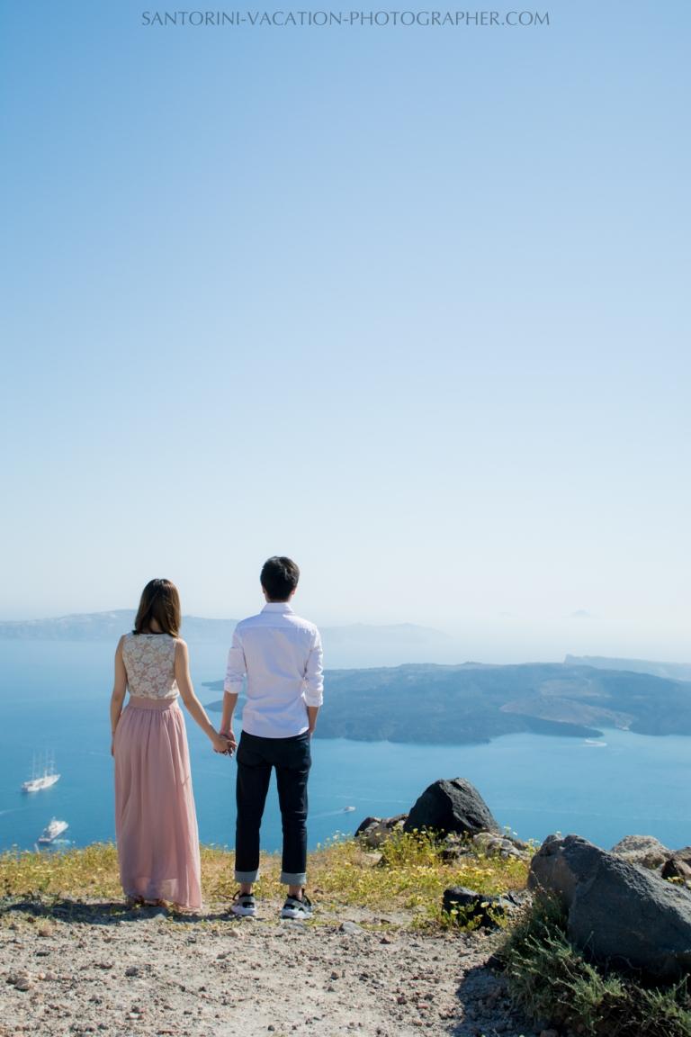Photo shoot , volcano view