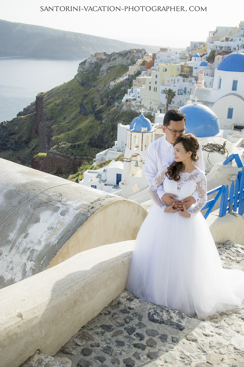 Santorini oia blue church photo shoot
