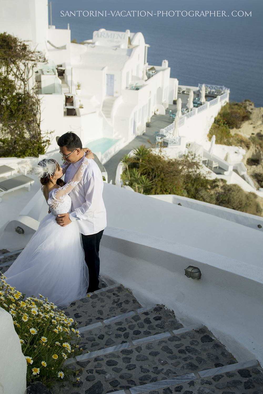 Santorini photo shoot.