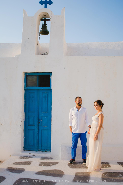 Santorini portrait shoot VOW RENEWAL CEREMONY-