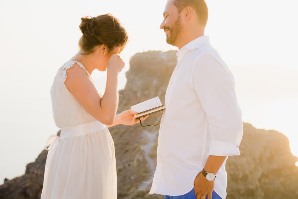 Santorini VOW RENEWAL CEREMONY couples portrait session
