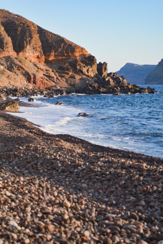 Santorini-beach-katharos-next-to-oia-village