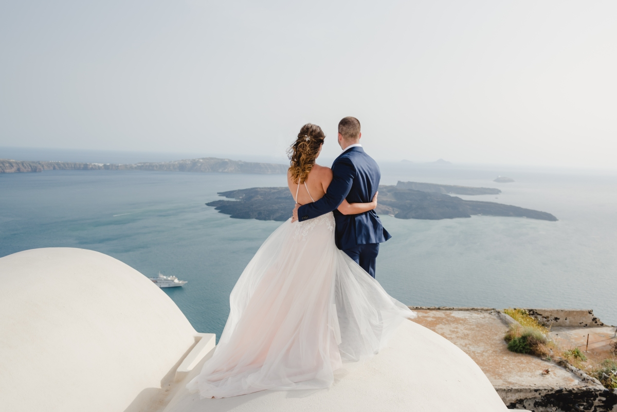 santorini post-wedding session